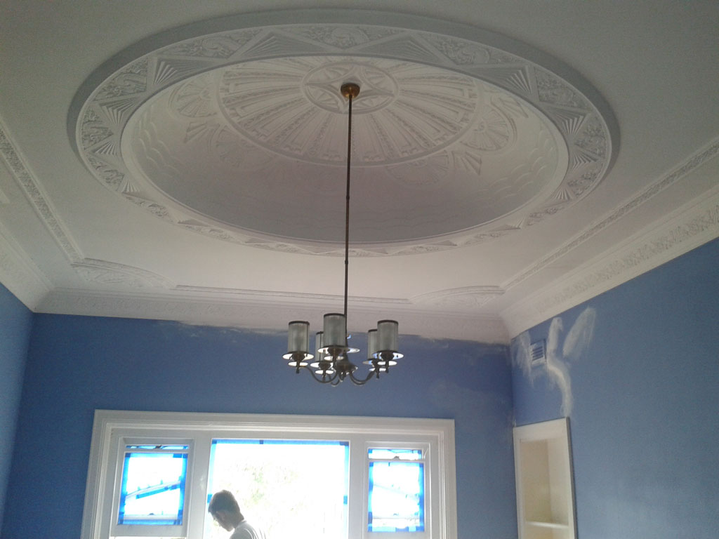 Ceiling Done – Room in Progress