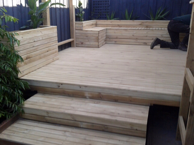 Decking before two